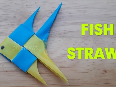 How to fold straw fish - Make a straw fish step by step | DIY Straws