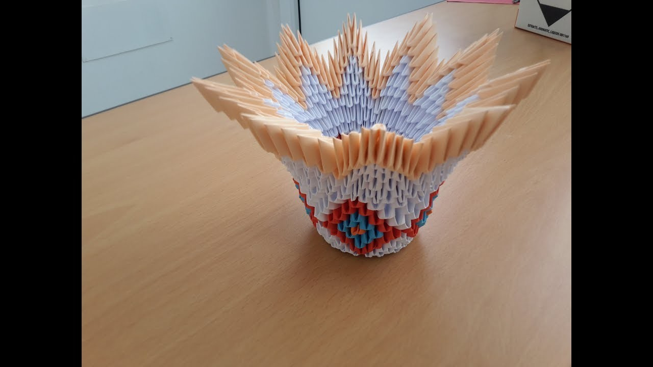 How To Make 3D Origami Bowl Tutorial By Are Life