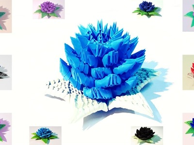 How to make 3d origami flower 7