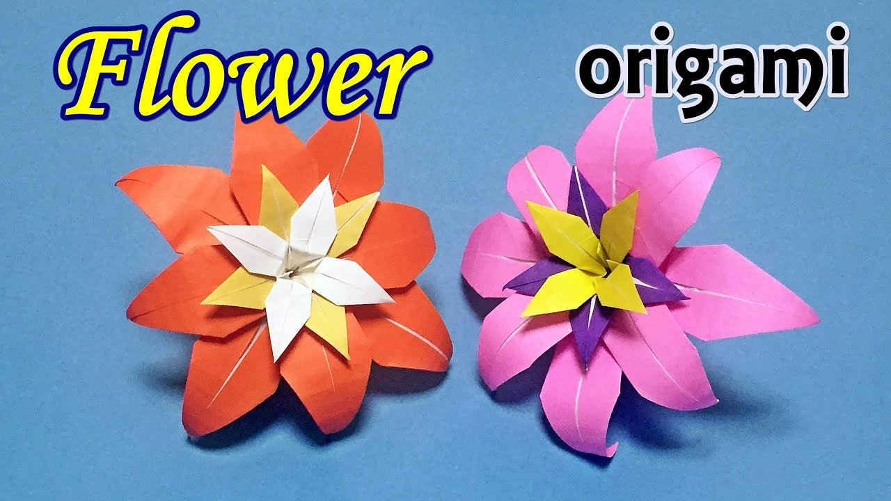 How To Make A Beautiful Origami Flower Easy To Do Origami For