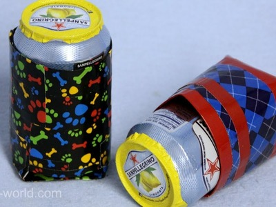 How to Make a Duct Tape Can Coozy | Sophie's World