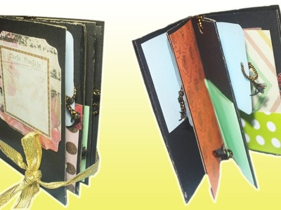 How to make a mini Scrapbook Album | Saminspire