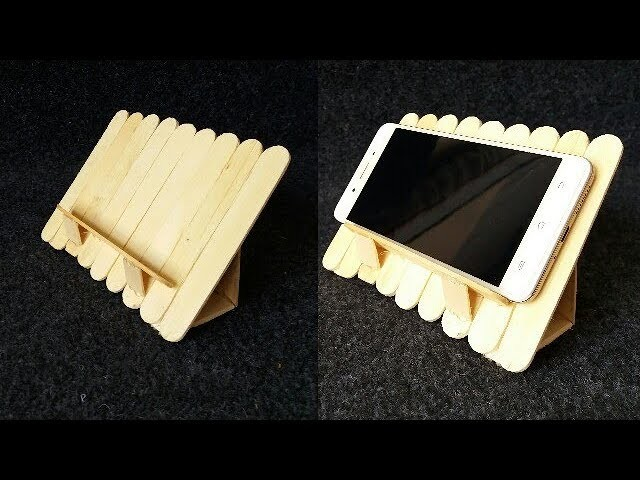 How to make a mobile stand by using ice cream sticks.popsicle sticks