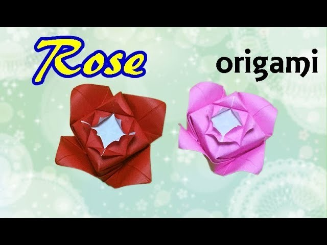 How to make a paper rose beautiful origami flower easy but looks how to make a paper rose beautiful origami flower easy but looks hard with only one piece of paper mightylinksfo