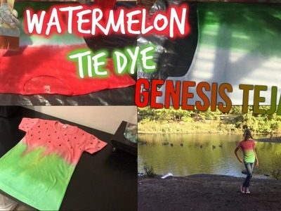 HOW TO MAKE A WATERMELON TIE DYE SHIRT | Genesis Tejada