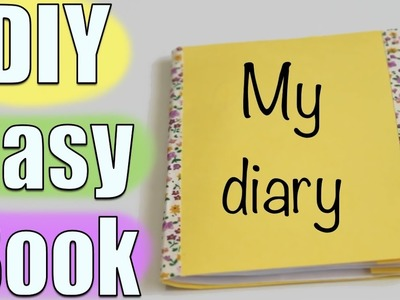 How to make an easy homemade book | Crazy about DIY
