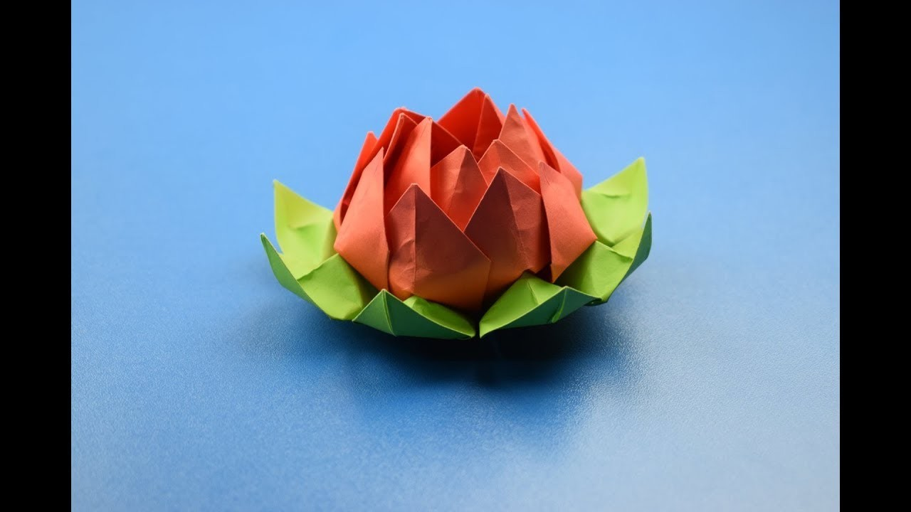 how to make an origami lotus flower diy craft ideas
