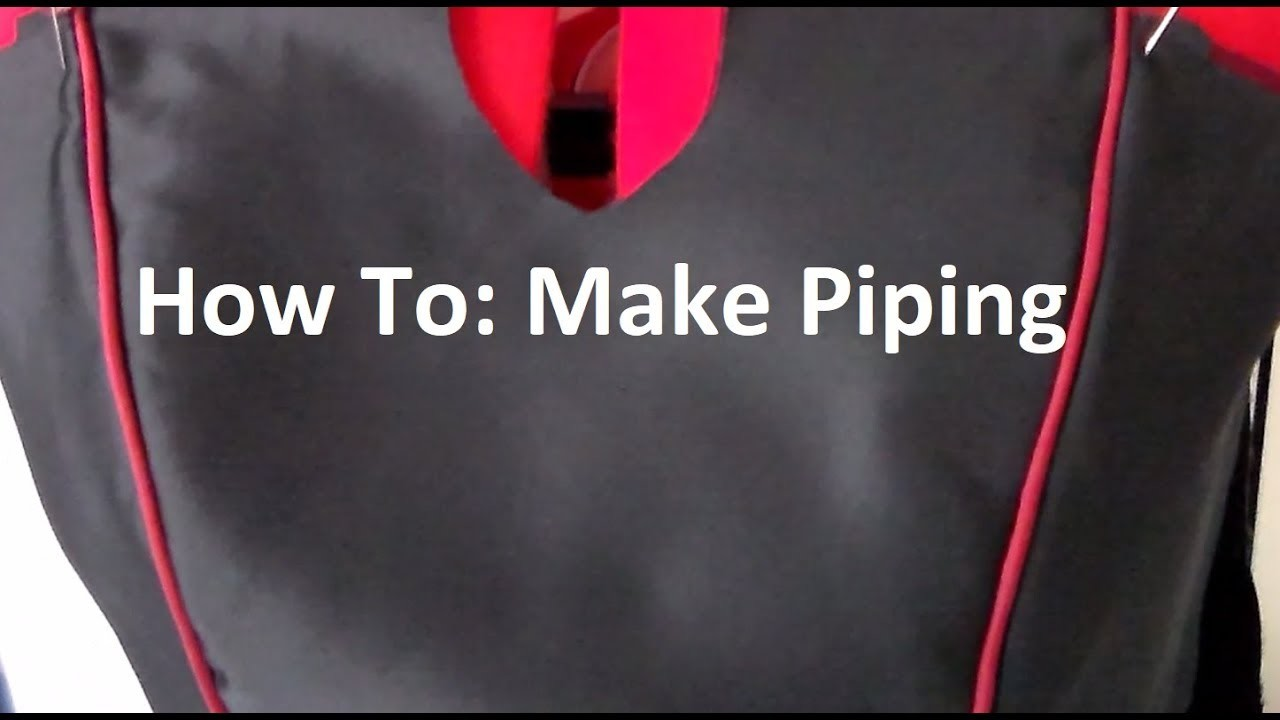 How To: Make and Sew Piping