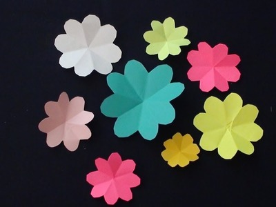 How to make beautiful paper flowers | Very Easy and Simple to make Paper Flowers for decoration.