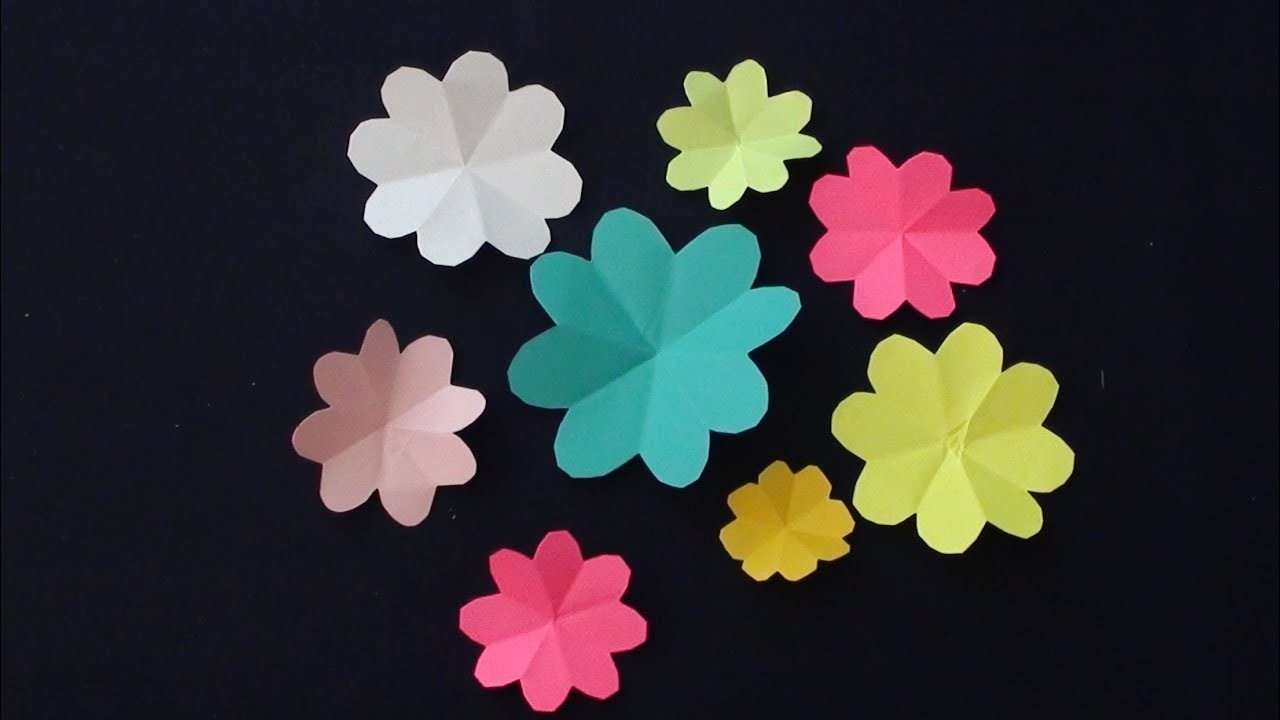 How To Make Beautiful Paper Flowers Very Easy And Simple To Make