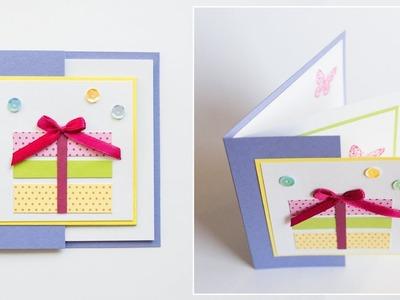How to make : Birthday Card | Kartka na Urodziny - Mishellka #243 DIY