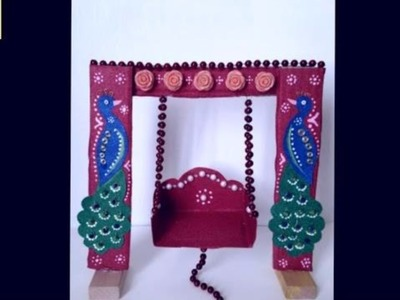 How to make cradle.jhula for bal gopal at home. DIY ideas.# C&C