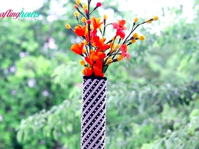 How to Make Cute Flower Vase with Cardboard and Newspaper | DIY Home Decor