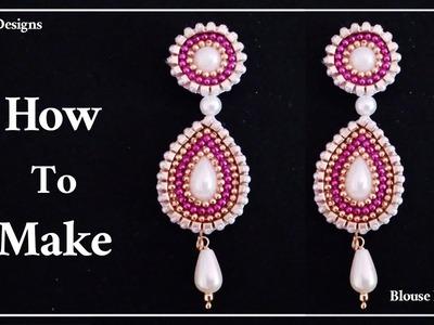 How To Make Designer Earrings | Paper Jewellery Making | How To Make Paper Earrings