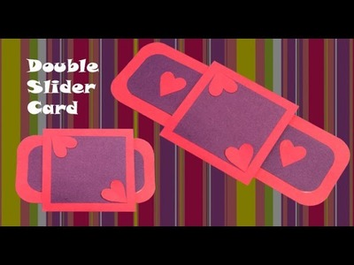 How to make double slider card    step by step    easy