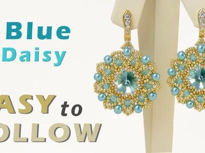 How to make earrings using 14 mm, 12 mm or 10 mm rivolis