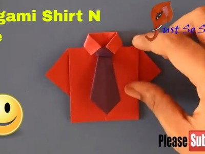 How to make easy and quickest origami shirt and tie NO GLUE!! ( using normal paper )