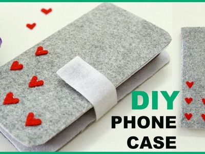 HOW TO MAKE easy  PHONE CASE.COVER   PHONE WALLET using cardboard