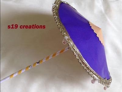How to make Easy Umbrella for ganesh chaturthi | diy crafts for ganesh chaturthi | ganesh chaturthi