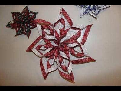 How to Make Fabric Snowflake