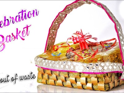 How to make gift basket from waste cardboard | Best out of waste | Artkala 263