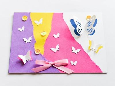 How to make : Greeting Card with Butterflies | Kartka z Motylami - Mishellka #230 DIY