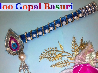 How to make bansuri.flute.murali.bansi for Ladoo Gopal.Thakur ji.Lord Krishna, at home