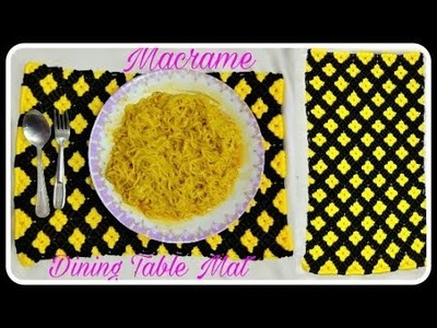 How To Make Macrame Dining Table Mat