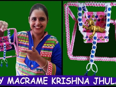 How to Make Macrame Krishna Jhula