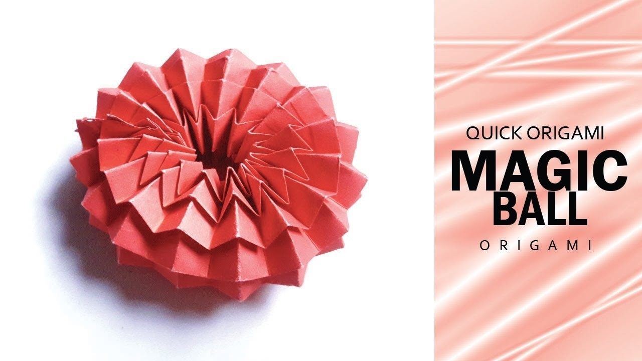 how to make origami magic ball�paper magic ball for kids