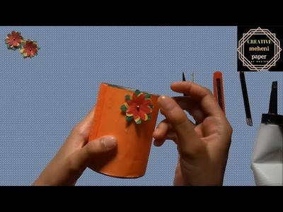 How to make paper flower vase step by step.origami flower vase tutorial