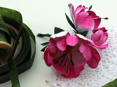 How to make paper Wild Roses by Archana Joshi ( Follow The Flower Friday)
