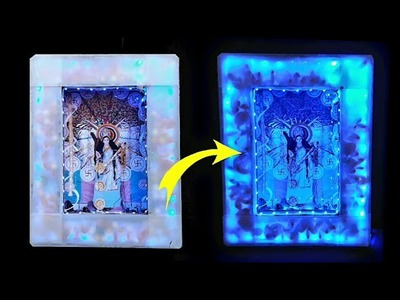 How To Make Photo Frame At Home With Cardboard & LED Strip Light