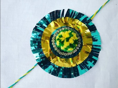 How to make Rakhi for school competition,How to make pom pom Rakhi,  l hand made rakhi l Rakhi