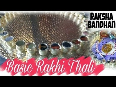 How to make Rakhi pooja  thali || DIY thali decoration||