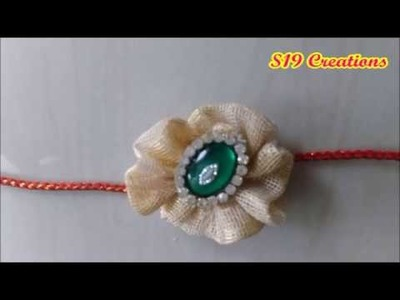How to make rakhi with fabric in just 5 minutes | rakhi making | rakhi | diy rakhi in 5 minutes