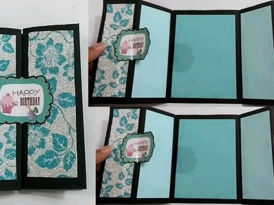 How to make Simple Double Gate Fold Card #Scrapbook
