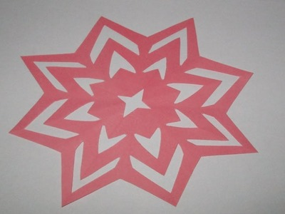 How to make simple&easy paper cutting flower designs?DIY paper cut out tutorial step by step#ORIGAMI