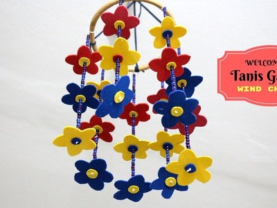 How to make wind chimes out of paper - Handmade wind chimes  - DIY paper wind chime