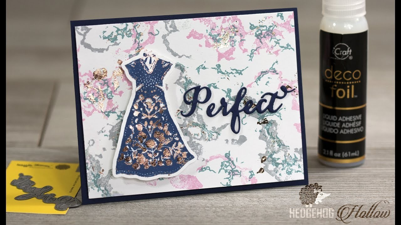 How to use foil on rubber stamps & on stamped images & marble backgrounds
