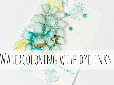 How to watercolor with dye inks