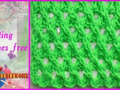 Knitting stitches free | Punto (puntada) Calado FANTASÍA