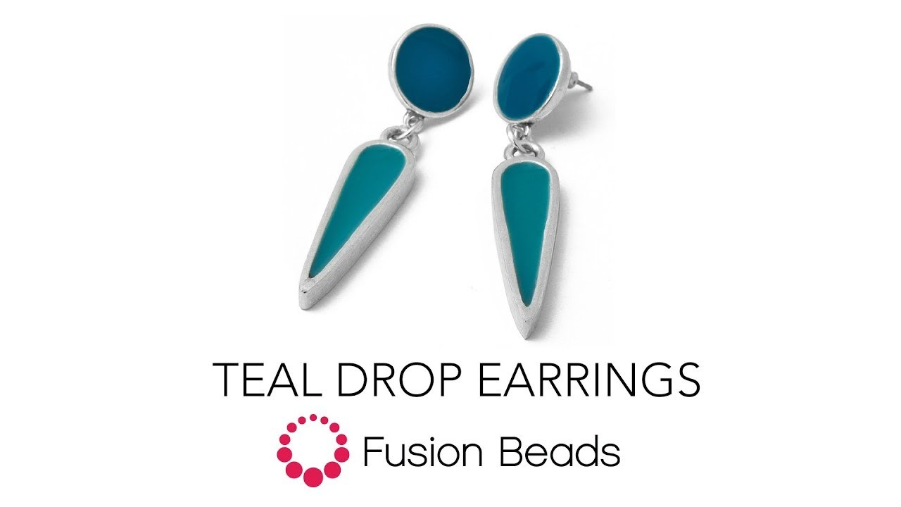 Learn How to Make a Pair of Colorful Earrings Using Resin and Color Pigments