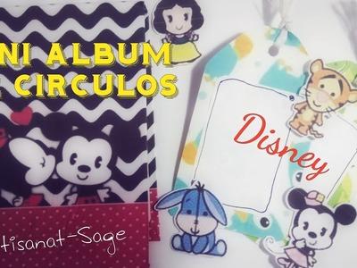 Mini Album Scrapbook (con circulos)Disney-Artisanat-Sage