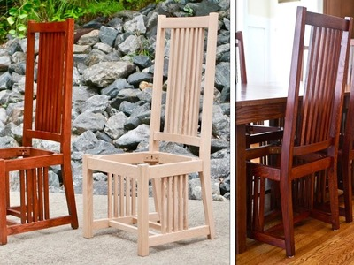 Mission Style Dining Chair   How To Build Part 1. Arts and Crafts Style Woodworking