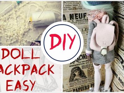 Monster High Doll Backpack Easy Tutorial. How To Make Barbie Bratz Blythe. DIY Handmade Kids Toys