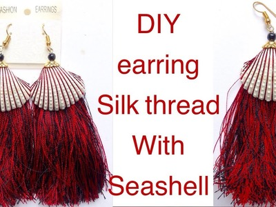 New design Silk thread earring making video || how to make silk thread earring at home