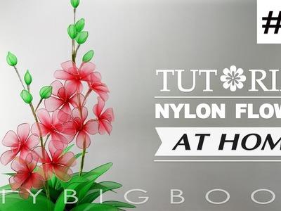 Nylon stocking flowers tutorial #59, How to make nylon stocking flower step by step