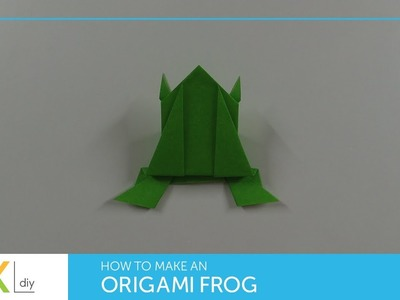 Origami animals #4 - How to make an origami frog I