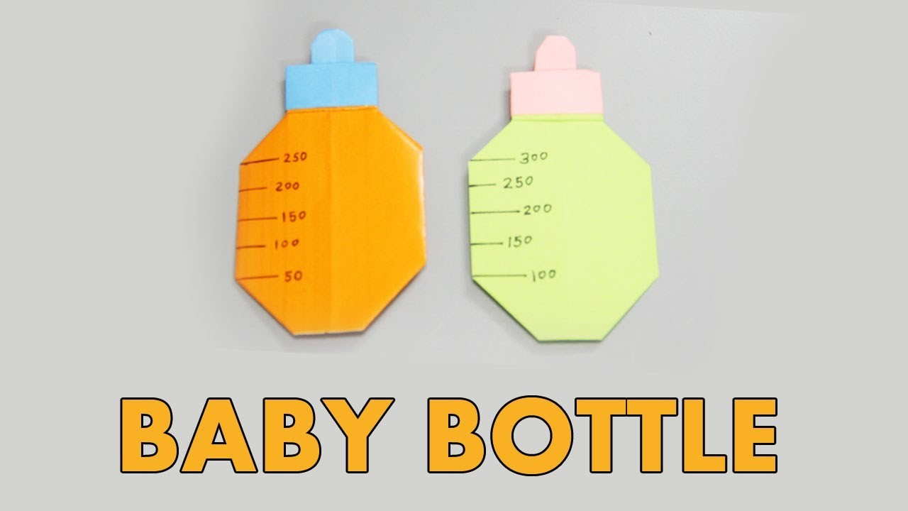 origami baby bottle how to make easy paper baby